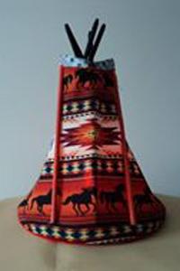 Tipi-Horses-Geometric-Red